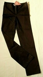 OASIS WOMEN'S STRETCH COTTON BROWN TROUSERS - SIZE XXS - BRAND NEW WITH TAGS