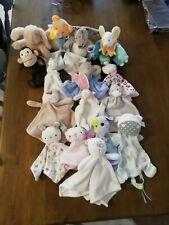 Large bundle job lot 16 soft plush baby comforters