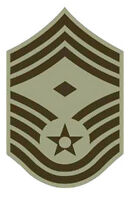 Lot of 20 Air Force Chief Master First Sergeant Rank Chevron  ABU Patches - Male