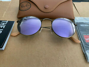 Sunglasses Ray Ban RB 3447 167/4K Round Metal - Bronze Copper Frame /Lilac lens