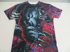Marvel VENOM Wraparound All Over Print Shirt Mens L