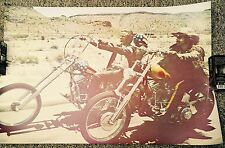 Vintage 1960's  Easy Rider Poster Hopper and Fonda Riding