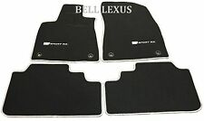 LEXUS OEM FACTORY F-SPORT FLOOR MAT SET 2016-2017 RX350 RX450H BLACK AND SILVER