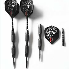 3pcs/Set Pro Tungsten Steel Needle Tip Darts With Dart Flights Sports Black