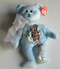 Ty Beanie Bear March HandPainted w/ Disney Image of Tiana Princess and the Frog