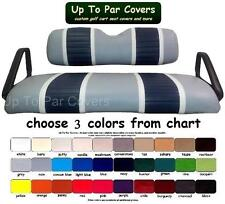 E-Z-Go ClubCar Yama Deluxe 2-Stripe Golf Cart Custom Vinyl Seat Cover - ZIPS ON!