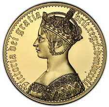 1851 Dated UK Victoria INA Retro Gothic St. George MODEL Gilt CuNi PCGS TOP 1