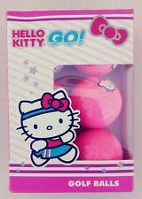Hello Kitty Go! By Sanrio.  Six Golf Balls Pink NEW in box
