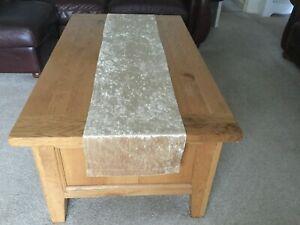 """70"""" Champagne Gold Christmas Crushed Velvet table runner Handmade UK"""