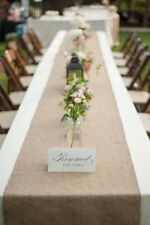 "12"" x 108"" Natural Burlap Table Runner. Made with Fine Premium Quality Burlap"