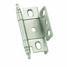 Amerock PK3175TMG10 Hinge, Full Inset Full Wrap Minaret Tip, Satin Nickel Single