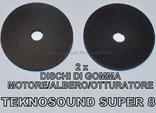 ★DISCHI IN GOMMA DI RICAMBIO 2 x PROIETTORE TEKNOSOUND SUPER 8 (MOTORE)★