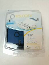 """Rolodex 15352 with 50 - 2.25"""" x 4"""" Cards Address Phone Card File Tray Black"""