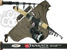 Deluxe Mini Travel Fishing Set Up 5ft Rod & Reel With Holdall Ideal For Holidays