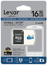 Tarjeta Memoria Lexar Pro MicroSD 16GB 45 MBs 300x CLASE 10 Micro SD 16 GB 32 64