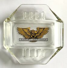 Vintage Harley Davidson Eagle Octagon Advertising Ashtray