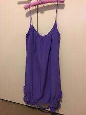 Women's Zimmermann Purple Silk Mini-Dress Size 1