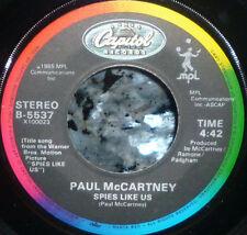 *<* BEATLES PAUL McCARTNEY SPIES LIKE US 1985 1st PRESSING M- GEM 45/CO.SLEEVE!!