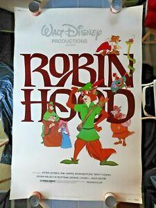 "1982 Walt Disney's ""ROBIN HOOD"" 40"" x 60"" Movie Poster Peter Ustinov Phil Harris"