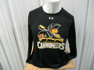 VINTAGE UNDER ARMOUR PRATT INSTITUTE CANNONEERS LARGE LONG SLEEVE SHIRT DESIGN