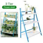 Garden 3-Tier Wooden Flower Plant Pot Shelf Ladder Rack Display Folding Stand