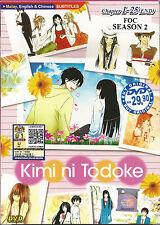 DVD Kimi ni Todoke - From Me to You Season 1 + Free Season 2 Anime Box set