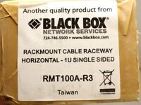 "Black Box RMT100A-R3 Horizontal IT Rackmount Cable Manager 19"", 1U Single-Sided"