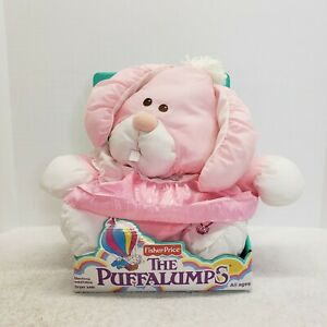 2006 Fisher Price The Puffalumps pink bunny rabbit New In Box! Machine washable