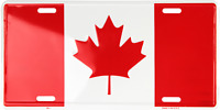 "Canada Canadian 6""x12"" Aluminum License Plate Tag made in USA"