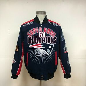 New England Patriots 6-Time Superbowl Champions Jacket