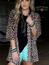 Crazy Train Kitty Kitty Bang Bang Leopard 3/4 Sleeve Animal Print Kimono Tunic