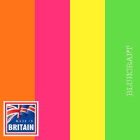 100 sheet A4 pack Fluorescent Paper 100gsm Vivid Shades Yellow Green Pink Orange