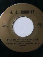 """RARE OHIO GARAGE 45/ JOHNNY STANKO & BROTHER JIMMY """"STOP IN THE NAME..."""" HEAR"""