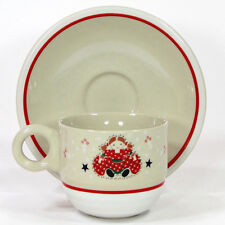 Noritake Epoch HOLIDAY JOY 8oz Cup & Saucer 8200 MIB Doll Christmas Vintage 1980