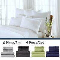 Comfort 1800 Count 4/6 Piece Bed Sheet Set Deep Pocket Bed Sheets
