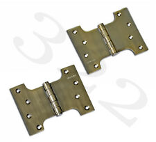 "Parliament Door Hinges Button Tipped 4 x 3 x 5"" + Screws"