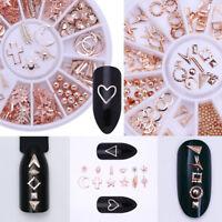 12 Styles 3D Nail Art DIY Decoration Rose Gold Starfish Shell Manicure Decor Tip