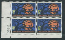 Legend of Sleepy Hollow 1974 Mint NH Plate # Block of 4 Scott #1548 Halloween