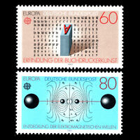Germany 1983 - EUROPA Stamps - Inventions - Sc 1392/3 MNH