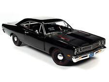 1969 PLYMOUTH HEMI 426 ROADRUNNER BLACK 1:18 DIECAST MODEL CAR AUTOWORLD AMM1213