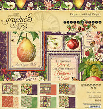 "Graphic 45 Fruit & Flora 8 x 8"" Paper Pad"