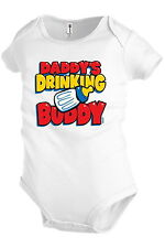 Daddy`s drinking buddy Infant Baby one-piece Bodysuit Snapsuit Girl Boy KP118