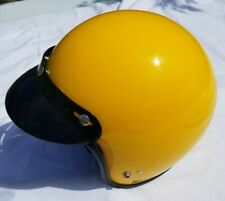 Vintage Jofa BMX Motocross DG Open Face Large Racing Helmet - 1979 Visor Yellow
