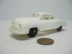1950s Hubley Kiddie Toy White Plastic Cadillac Toy Car