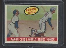 1959 TOPPS HIGH GRADE #467 AARON CLUBS WORLD SRIES HOMER