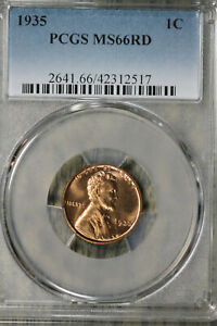 Gorgeous GEM+ 1935 Lincoln Wheat Cent -  PCGS MS66RD!