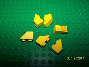 Lego 1x2/45 Inverted Slope Brick Qty 6 (3665) - Pick your color
