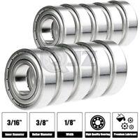 1x SR166ZZ 3//16in x 3//8in x 1//8in Stainless Steel Ball Bearing R166zz 2Z NEW
