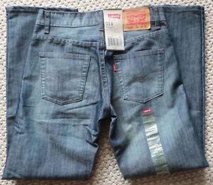 NWT $40 LEVI's Red Tab 514 Slim Straight Fit Jeans Boys 14 Reg 27x27 in BLURRED