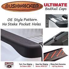 """49517 Bushwacker Ultimate Black Bed Rail Caps Chevy Silverado 6'6"""" 2007-2013"""